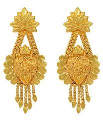 Design Of Ear Ring Dzine Trendz Gold Plated Hanging Flowerpot Design Stylish Handmade Traditional Earring Ethnic New Design By Dzinetrendz