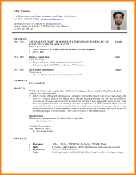 Resume Sample For Fresh Graduate With Experience Refrence Fresh