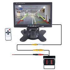 lcd monitor 7 tft lcd monitor car truck rear view backup camera night vision wired kit