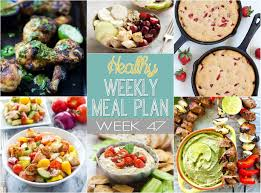 Weekly Menu For One Healthy Weekly Meal Plan 47 Yummy Healthy Easy