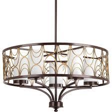 progress lighting p4700 20 5 light 1 tier chandelier 100 watt antique bronze
