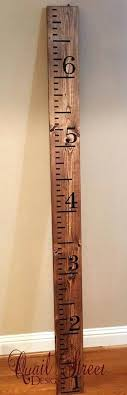 growth chart wood hand painted ruler custom colors made in wall decal growth chart
