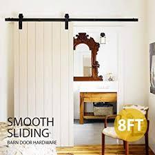 sliding closet barn doors. Contemporary Barn Yaheetech 8Ft Sliding Barn Door Hardware Kit Set Antique Style Single Closet  Wood Track System Black To Doors O