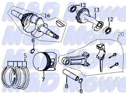 parts for md en130 and other 13hp small engines aftermarket honda part