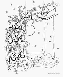 Kerstman En Rendieren Krijg Het Vova Kleurplaatvuurwerkco
