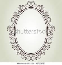 vintage frame design oval. Vector Oval Vintage Frame, Floral Sketch Design Frame Shutterstock