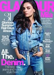 mila kunis goes makeup free for glamour magazine