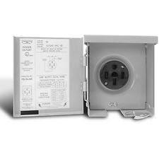 rv power outlet connecticut electric cesmps54hr 50 amps 120240 volt rv 3r power outlet