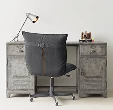 kemp distressed silver storage desk