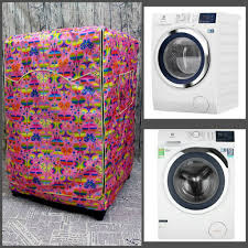 Vải dù xịn không nổ vỏ] Áo Trùm Máy Giặt Cửa Trước Cửa dành cho Máy giặt  Toshiba Inverter 8.5 Kg (mẫu bướm hồng) chính hãng 175,000đ
