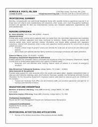 Writing A Nursing Resume Unique Curriculum Vitae Sample For Nursing Students Elegant Resume