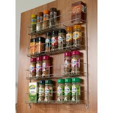 4 Tier Door Mounted Spice Rack