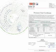 Valve Test Pressure Chart Home