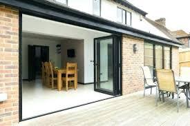 pella sliding door at windows kitchen exterior glass walls residential used patio doors folding patio
