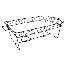 Decorative Wire Tray Party Catering Food Warming Decorative Wire Chafing Rack Stand Black 91
