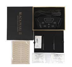 china snless steel black pearl permanent makeup machine kit tattoo equipment supplier