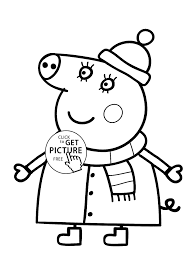 strong peppa pig printable coloring pages from cartoon for kids free