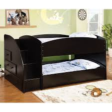 furniture of america merritt black twin over twin bunk bed