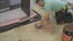how to installing hardwood flooring glue down in the bat around a bar mryoucandoityourself