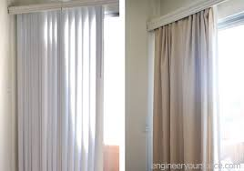 how to conceal vertical blinds with curtains no tools or extra hardware needed