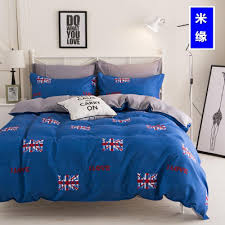 polyester fabric bed linen quilt cover bedding set qs british flag