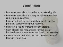 economic terrorism in 11 conclusionbull economic terrorism