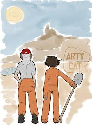 digging holes by arty cat