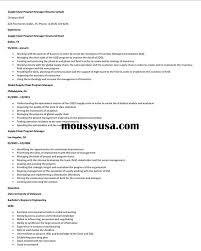Supply Chain Program Manager Resume Sample Resume Builder