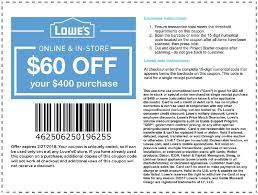 60 lowes printable sle coupon