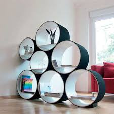 Wonderful Pictures Of Bookshelf Designs For Your House : Breathtaking  Design With Dark Grey Wood Frame
