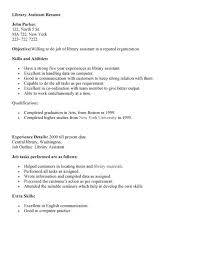 Library Assistant Resume Resume Sample