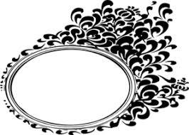 Ornate Black Oval Frame Clip Art at Clkercom vector clip art