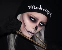this epic skull makeup is perfect for and also super affordable