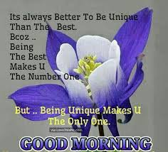 Good Morning Be Unique Today Morning Good Morning Morning Quotes Stunning Goodmorning Unique Images