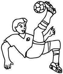 Coloriage Football Les Beaux Dessins De Sport Imprimer Et