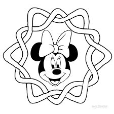 Small Picture Printable 6 Minnie Mouse Face Coloring Pages 5828 Minnie Mouse