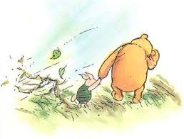 Image result for pooh standing in the corner