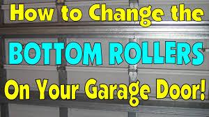 how to change the bottom roller on a garage door diy fix repair