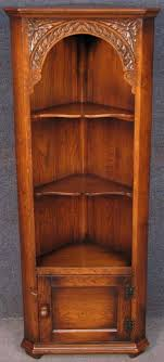 Corner Cabinet Shelving Unit Delectable Period Style Carved Solid Oak Corner Cabinet Shelf Unit Corner