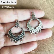 2018 antique silver earring connectors 23 31mm chandelier earring connector zinc alloy metal jewelry findings for diy crafts from fashionista2016style