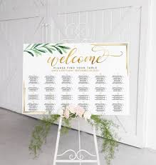 Etsy Wedding Seating Chart Alphabetical Seating Chart Wedding Seating Chart Alphabetical Wedding Table Plan Seating Chart Template Greenery Find Your Seat Grn019wbd
