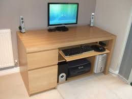 Office And Workspace Furniture Simple Plywood Computer Desk With Excellent  Keyboard And PC Rack For Home
