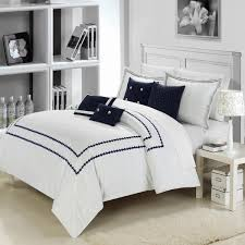 blue and white bedding sets king