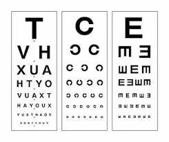 Details About Large Framed Print Modern Eye Chart Picture Snellen Optician Glasses Test