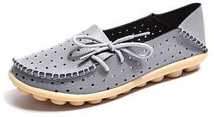 Fashion Grasshoppers Womens Windham Slip On Flat Grey Price
