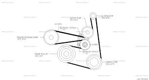 117 Fan Compressor Power Steering Belt For X Trail T30