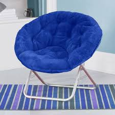 image of oversized saucer chair royal blue