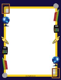 Kids School Page Borders