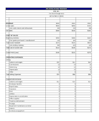 Income Pro Forma Statement Format Balance Sheet And Expenses