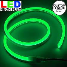 How To Custom Cut Led Christmas Lights Custom Green Led Neon Flex Rope Light Kit 120v Novelty Lights